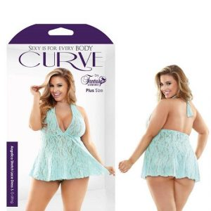 Curve Angelica Stretch Lace Dress & G-String