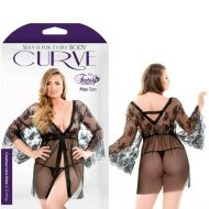 Curve Courtney Lace Robe With G-String