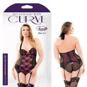 Curve Gigi Halter Underwire Bustier Panty Set