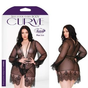 Curve Helena Lace Robe And G-String