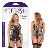 Curve Odessa Cutout Molded Cup Bustier Matching Panty