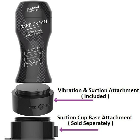 DreamLiner Dare Dream Stroker with Attachment Suction & Vibration