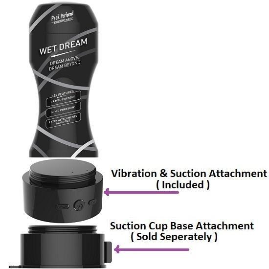 DreamLiner Wet Dream Masturbator with Suction & Vibration Attachment
