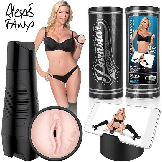 Pornstar Signature Series Alexis Fawx Rechargeable Vibrating Pussy Stroker