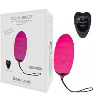 Pink Adrien Lastic Ocean Breeze Remote Control Rechargeable Egg Vibe