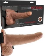 Fetish Fantasy 6 inch Hollow Rechargeable Strap-On with Balls