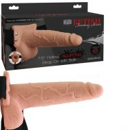 Fetish Fantasy 7.5 inch Hollow Squirting Strap-On with Balls