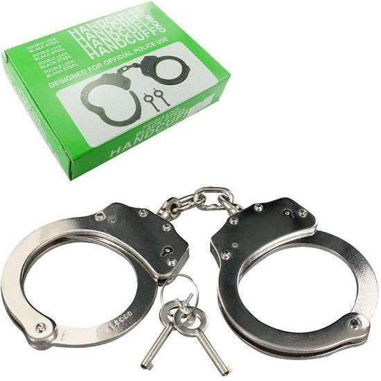 Double Locking Heavy Duty Steel Handcuffs